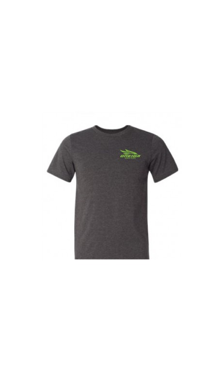 """BEEFY SS Gray T-shirt """"Made in USA"""" neon green ONEIDA EAGLE BOWS - Ulysses archery - equipment - accessorie -"""