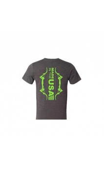 """T-shirt grigia """"Made in USA"""" Beefy SS verde neon ONEIDA EAGLE BOWS"""