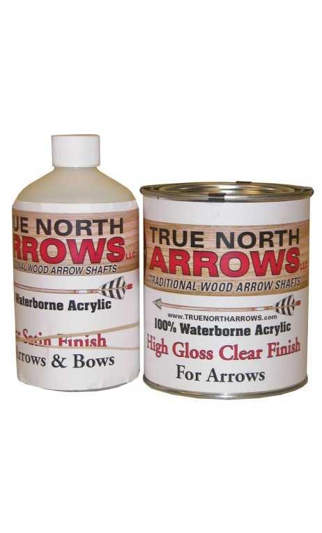 Vernis à base d'eau brillant 1 Litre TRUE NORTH ARROWS - ULYSSE ARCHERIE