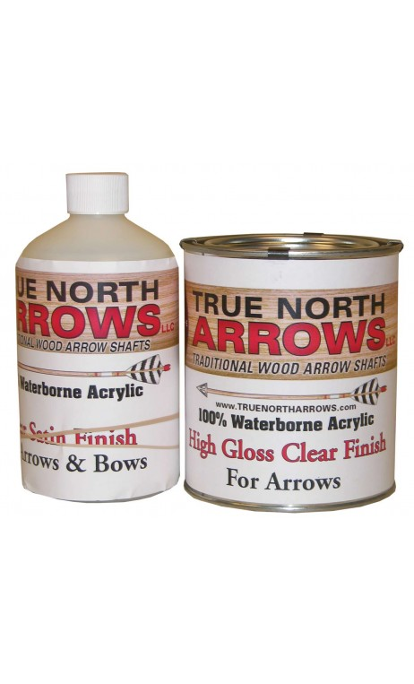 Vernis satin à base d'eau 1 Litre TRUE NORTH ARROWS - ULYSSE ARCHERIE
