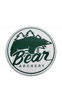 la placa logotipo de la vendimia BEAR ARCHERY - ARQUERÍA DE ULYSSE - ULISES CON ARCO