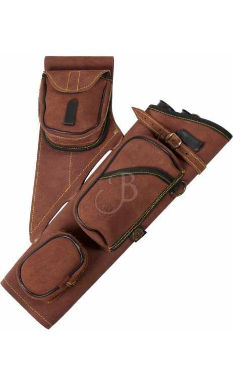 Carquois de hanche en cuir BT100 BIG TRADITION ARCHERY - ULYSSE ARCHERIE