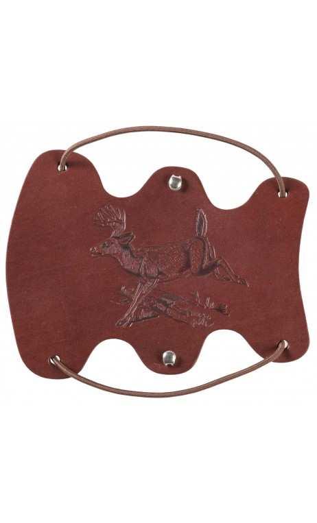 Protège bras Cerf de Virginie en cuir - ULYSSE ARCHERIE