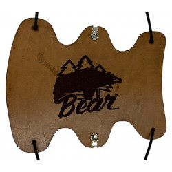Guardabrazos de cuero con logo de oso vintage BEAR ARCHERY - ULYSSE ARCHERIE