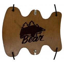 Parabraccio in pelle con logo orso vintage BEAR ARCHERY - ULYSSE ARCHERIE