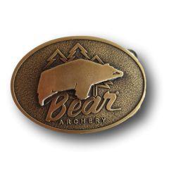 Vintage Antique Brass Belt Buckle BEAR ARCHERY - ULYSSE ARCHERIE