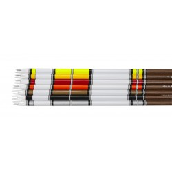 Wrap adhesif cresting traditionnel Noir Three Rivers Archery - ULYSSE ARCHERIE