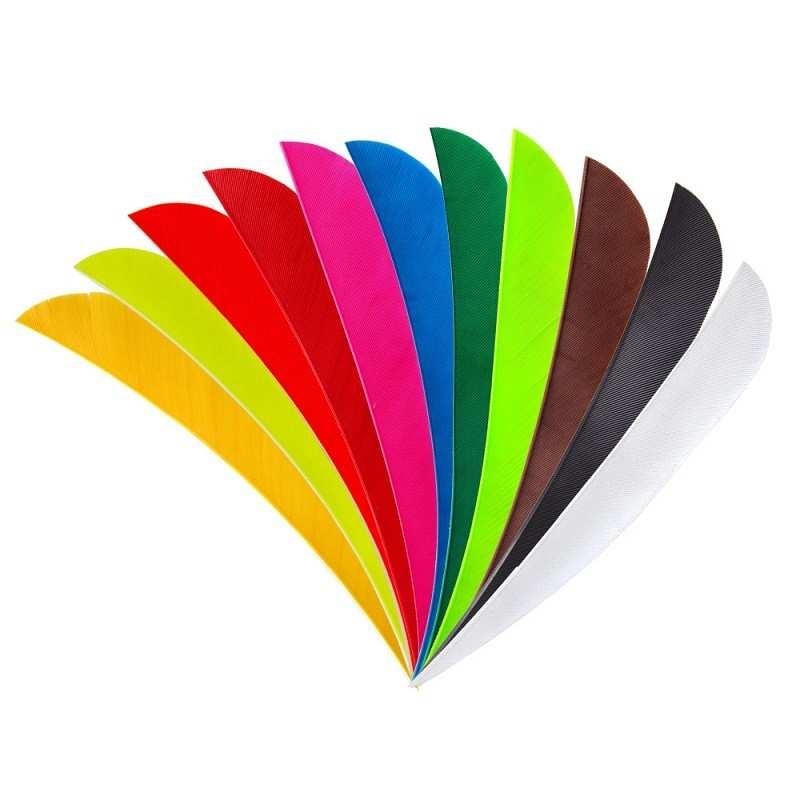 "plumas naturales 4"" color sólido parabólico BEARPAW - ULYSSE ARCHERIE"