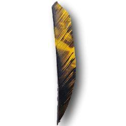 "Natural Feathers Shield 4"" FIRE CAMO OZARK FEATHER - ULYSSE ARCHERIE"