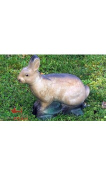 Cible Lapin Blanc assis 3D NATUR FOAM