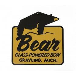 """Bear Archery """"Glass Powered"""" Vintage Tin Sign 3RIVERS ARCHERY - ULYSSE ARCHERIE"""