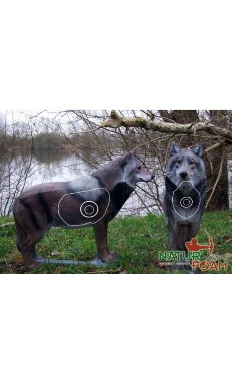 Cible animal 3d Le loup NATUR FOAM - ULYSSE ARCHERIE