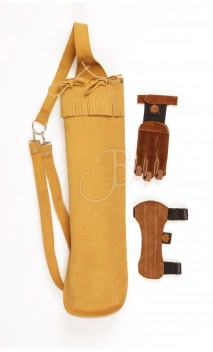 Kit carquois, brassard, gantier basic Big Archery