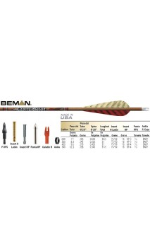 CenterShot Beman caza de carbono flecha - ULYSSE ARCHERIE