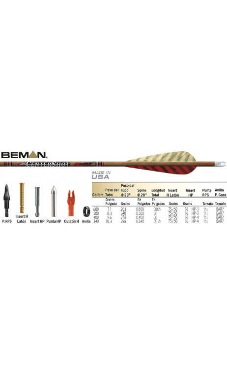 CenterShot Beman carbon hunting arrow - Ulysses archery - equipment - accessorie -