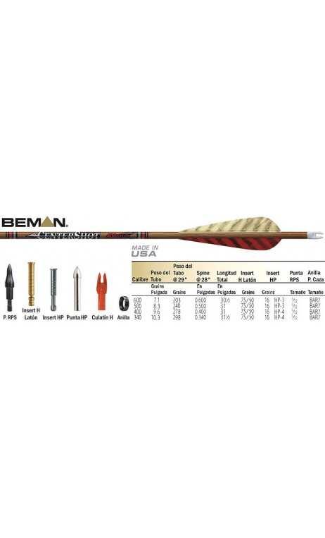 CenterShot Beman caza de carbono flecha - ARQUERÍA DE ULYSSE - ULISES CON ARCO